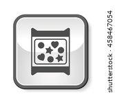 dessert cookie icon | Shutterstock .eps vector #458467054
