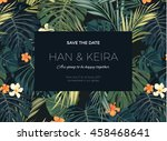 wedding invitation or card... | Shutterstock .eps vector #458468641