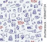 school sketch book | Shutterstock .eps vector #458469724