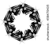 fantasy wheel  isolated on... | Shutterstock .eps vector #458470435
