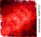 red painted grunge texture | Shutterstock . vector #45847117