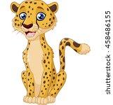 cartoon funny cheetah | Shutterstock .eps vector #458486155