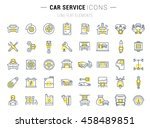 set vector line icons with open ... | Shutterstock .eps vector #458489851
