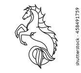 flat linear hippocampus... | Shutterstock .eps vector #458491759