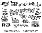 set with photo lettering | Shutterstock .eps vector #458492659