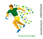 rugby player in the colors of... | Shutterstock .eps vector #458493634
