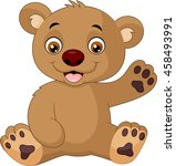 cute baby bear cartoon | Shutterstock . vector #458493991