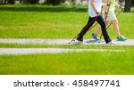 senior couple hiking in the...   Shutterstock . vector #458497741