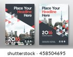 red color scheme with city... | Shutterstock .eps vector #458504695