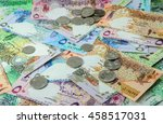 qatar currency | Shutterstock . vector #458517031