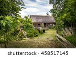 Rural Landscape With A Wooden...