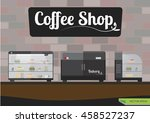 vector of bakery box in coffee... | Shutterstock .eps vector #458527237