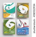 set of flyer  poster   magazine ... | Shutterstock .eps vector #458532934