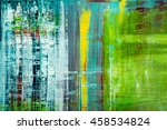 abstract painted canvas. oil...   Shutterstock . vector #458534824