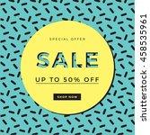 sale template design for banner ... | Shutterstock .eps vector #458535961