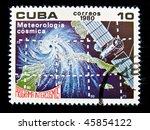 cuba   circa 1980  a stamp... | Shutterstock . vector #45854122