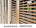 brown wooden shutters | Shutterstock . vector #458551501