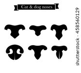Set Of Cat And Dog Nose Icons....