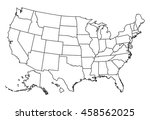 map of usa | Shutterstock .eps vector #458562025