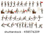 collection of business people...   Shutterstock . vector #458576209