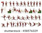 large set of businessman... | Shutterstock . vector #458576329