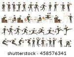 collection of business people... | Shutterstock . vector #458576341