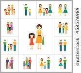 family icon set | Shutterstock .eps vector #458576989