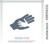helping hands. vector... | Shutterstock .eps vector #458596231