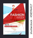 fashion sale poster  sale... | Shutterstock .eps vector #458596417