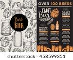 beer restaurant brochure... | Shutterstock .eps vector #458599351