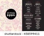 ice cream menu placemat food... | Shutterstock .eps vector #458599411