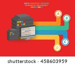 database info graphic on red... | Shutterstock .eps vector #458603959