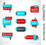 vector stickers  price tag ... | Shutterstock .eps vector #458606791
