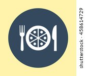 web icon of restaurant. | Shutterstock .eps vector #458614729