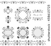 collection napkins  lace... | Shutterstock .eps vector #458615725