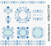 collection napkins  lace... | Shutterstock .eps vector #458615749