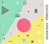 retro style texture  pattern... | Shutterstock . vector #458621431