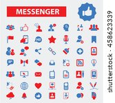 messenger icons | Shutterstock .eps vector #458623339