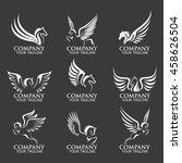 Stock vector pegasus logos 458626504