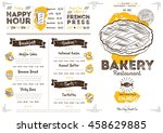 bakery menu design and bakery... | Shutterstock .eps vector #458629885