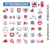 it technology icons | Shutterstock .eps vector #458631421