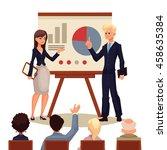 businessman and businesswoman... | Shutterstock .eps vector #458635384