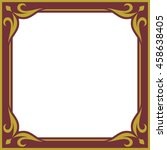 frame border beautiful vector... | Shutterstock .eps vector #458638405