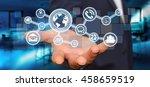businessman in his office...   Shutterstock . vector #458659519