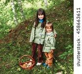 the children in forest. | Shutterstock . vector #458663611