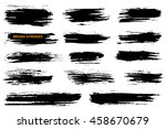 set of grunge brush strokes.... | Shutterstock .eps vector #458670679