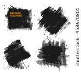 set of grunge squares. hand... | Shutterstock .eps vector #458670805