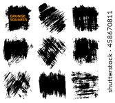 set of grunge squares. hand... | Shutterstock .eps vector #458670811