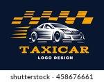 modern vector taxi cab logo for ... | Shutterstock .eps vector #458676661