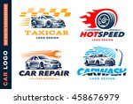 collection of logos car  taxi... | Shutterstock .eps vector #458676979